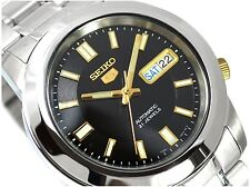 Seiko 5 Automatic Mens Watch 21 jewels Skeleton back SNKK17K1 UK Seller