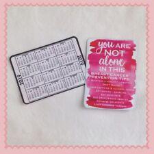 Lot of 12 2019 Pink Ribbon Breast Cancer Awareness Pocket Card Wallet Calendar