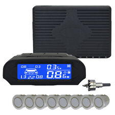8 parking sensor dual core 8 digital LCD display reverse radar alarm kit