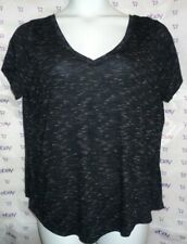$65 Torrid size 2 plus cap sleeve black white knit textured V front back tee top