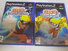Ps2 lote Naruto Uzumaki Chronicles 1 y 2 PAL España y completos