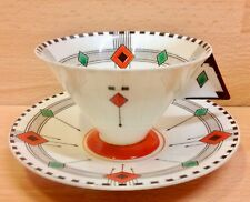 "Shelley Vogue Shape ""Diamonds"" Pattern 11772 Tea Cup & Saucer."