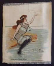 MONTAUK POINT GIRL King Girls 1912 American Tob SILK Hamilton King 155mm x 120mm