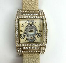 E Gossip Gold Crystals Stingray Embossed Leather Tan Stainless Japan Needs Batt