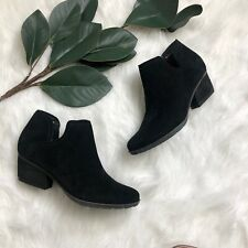 Blondo Womens Black Suede Leather Ankle Boots Booties Sz US 6.5