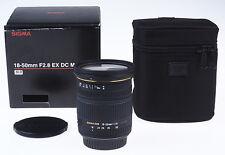 Sigma ex 18-50mm 18-50 mm 2.8 dc macro para Canon Sigma distribuidores * d144