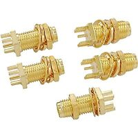 5pcs End Launch PCB Mount Bulkhead SMA Female RF Coaxial Connector Straight Hig