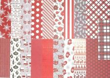 19pcs Christmas CARDSTOCK, Red and White, Mittens, Dove, Snowflake, Reindeer