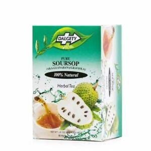 2 x Dalgety Pure Soursop Herbal Tea (Aka Guanabana/Graviola) 18 Tea bags per Box