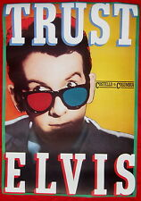 Elvis Costello poster TRUST 1981 BEAUTIFUL..smaller version