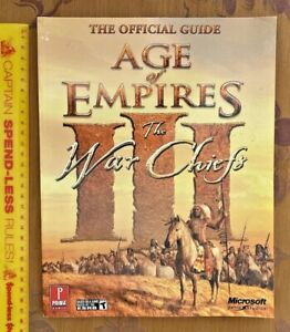 AGE OF EMPIRES III THE WAR CHIEFS PRIMA STRATEGY GAME GUIDE PC 3 EXC!!!