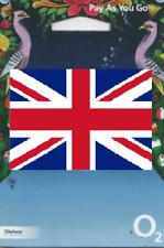NEW, O2 United Kingdom, PREPAID SIM card. UK. No registration required.