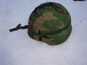 US Army Complete Helmet PASGT Body Armor Large 1983 Woodland Unicor BDU L2 ROT/B