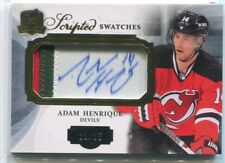 2013-14 The Cup Scripted Swatches AH Adam Henrique Retro Jersey Patch Auto 19/35