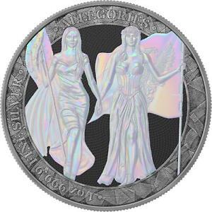Germania 2019 5 Mark Columbia & Germania - Pearl Holo - 1 Oz Silbermünze
