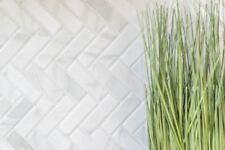 MOSAIC tile ceramic herringbone stone look white kitchen wall 24-SO10_b |1 sheet