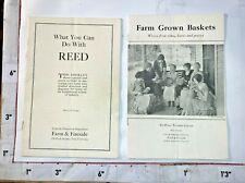 2 Farm Grown Baskets Homesteading Farm & Fireside Booklets 1920/30s Basketry