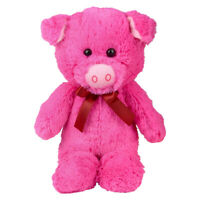 12'' Neon Cute Pink Piggy Soft Cuddly Stuffed Animal Plush Toy