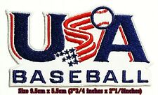 USA BASEBALL Sport Embroidery Patches logo iron,sewing on clothes