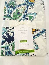 Pottery Barn Made To Order Floral Paisley King Pillow Sham New
