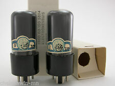 Fivre 6V6GT vacuum tube gray glass matched pair (2) AT1000 Tested