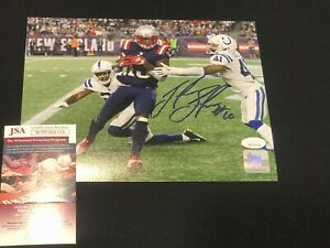 Josh Gordon Signed New England Patriots Autographed 8x10 Photo JSA Brady's 500