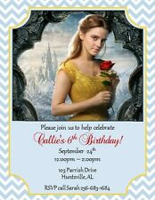 12 PRINTED Beauty and the Beast Invitations ~ #2~ NEW! by The Notecard Lady