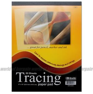 30 sht TRACING PAPER PAD 9x12 Quality Sketch Book Pencil Drawing Art Overlay C29