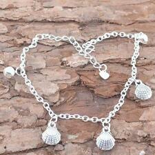 Barefoot Ankle Silver Shell Bell Chain Anklet Bracelet Jewelry