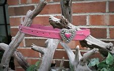 Nocona Belt Co Genuine Leather Girls Pink Heart Belt