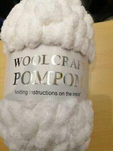 Woolcraft Pom Pom Yarn White 200gr