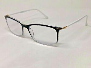 DEPAI MOD.9022 C-110 Eyeglasses Frame 55-17-145 Black Crystal Fade/White QI60