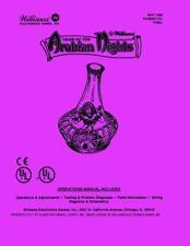 Tales of the Arabian Nights Operations/Service/Manual/Pinball Williams  PPS SA