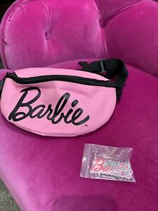 Barbie Girls Kids Pink Bumbag Bag Body Cross BRAND NEW With Barbie Necklace