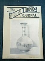 1948 AMERICAN ANTIQUES JOURNAL Rookwood Pottery Lady Louise Dolls Currier & Ives