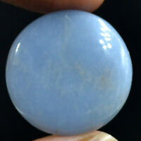 Cts. 31.70 Natural Charming Angelite Round Cabochon Cab Loose Gemstone