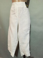 Womens Sz 20 Autograph White Pure Linen Elastic Waist 3/4 Crop Pants
