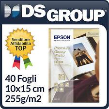 CARTA FOTOGRAFICA EPSON 10X15 CM PREMIUM GLOSSY PHOTO PAPER INKJET 40 FG 255g/m2
