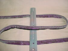 2-3/4Y LEE JOFA GLITTERED PURPLE BLACK CORD DRAPERY UPHOLSTERY TRIM