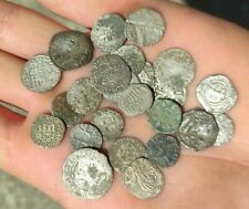 SUPERB LOT OF 25 PERFECT MEDIEVAL EUROPEAN SILVER COINS - RARE COINS IN LOT