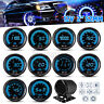 2'' 52mm LED Digital Water/Oil Temp Volt Press Tacho Boost Gauge PSI/BAR AFR