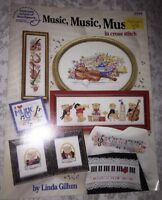 "American School of Needlework Leaflet #3594 ""Music,Music, Music"" in cross stitch"