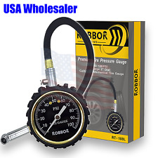 Tire Gauge Robbor 100PSI Flexi-Pro Heavy Duty Car Motorcycle Tire Pressure Gauge