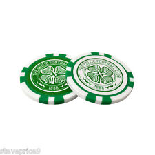 Celtic FC 2 Jeton De Poker Golf Ball Markers in Ensemble Cadeau