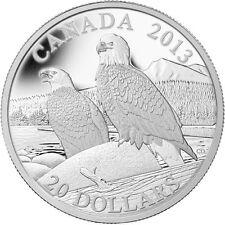 CANADA 2013 - 1 OZ Pure Silver Bald Eagle - Lifelong Mates -  COA # 667