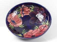 William Moorcroft Signed Large Anemone Bowl