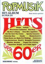 Pop Musik Hit Album Super 20 Hits der 60er Noten für Akkordeon Keyboard leicht