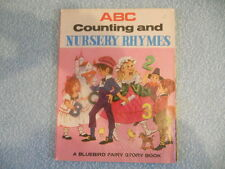 ABC COUNTING AND NURSERY RHYMES bluebird fairy story book c1950,s