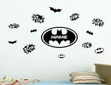 Batman Custom Name Removable Wall Sticker Personalised