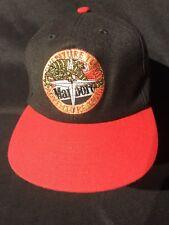 Vtg 90s Marlboro Adventure Team Lizard Compass Mens Black/Red Strapback Hat